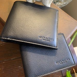 Authentic Coach Sport calf leather 2in1 wallet 🌿